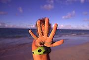 Hand, beach<br />