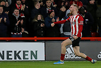 Sheffield United's Oliver McBurnie celebrates after scoring the opening goal <br /> <br /> Photographer Rich Linley/CameraSport<br /> <br /> The Premier League - Sheffield United v West Ham United - Friday 10th January 2020 - Bramall Lane - Sheffield <br /> <br /> World Copyright © 2020 CameraSport. All rights reserved. 43 Linden Ave. Countesthorpe. Leicester. England. LE8 5PG - Tel: +44 (0) 116 277 4147 - admin@camerasport.com - www.camerasport.com