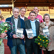 NLD/Amsterdam/20110221 - Boekpresentatie De Sportcanon, Reinier Paping, Rob Rensenbrink, Ard Schenk, Hennie Kuper, Ron Zwerver, Sjoukje Dijkstra en Minke Booij