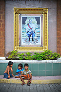 Homeless kids in a street of Phnom Penh, Cambodia, Southeast Asia