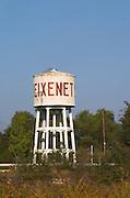 Water tower with Freixenet text. Sant Sadurni d'Anoia, San Sadurni de Noya. Spain.