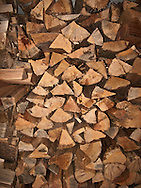 stack of split firewood