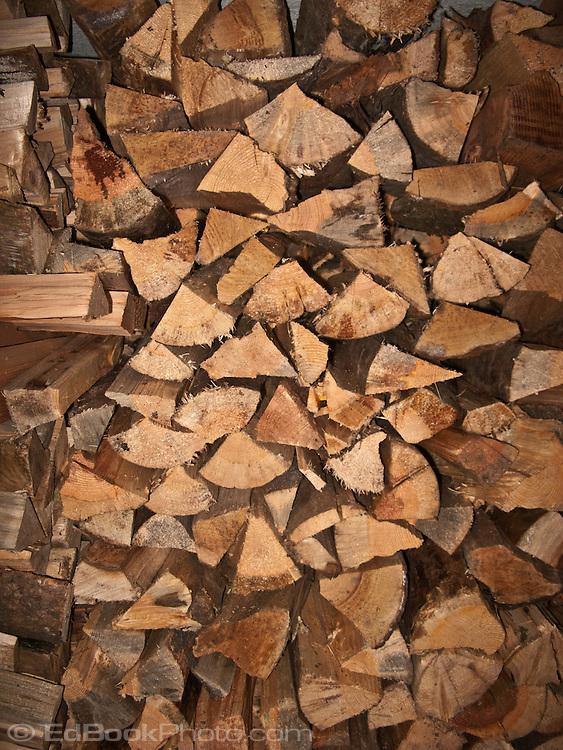 stack of split firewood
