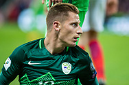 Valter Birsa (10) during the FIFA World Cup Qualifier match between England and Slovenia at Wembley Stadium, London, England on 5 October 2017. Photo by Sebastian Frej.