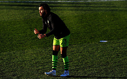 Dominic Bernard of Forest Green Rovers warms up prior to kick-off - Mandatory by-line: Nizaam Jones/JMP - 27/02/2021 - FOOTBALL - The innocent New Lawn Stadium - Nailsworth, England - Forest Green Rovers v Colchester United - Sky Bet League Two