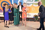 Koning Maxima is als lid van het Nederlands Comite voor Ondernemerschap en Financiering, aanwezig bij de uitreiking van de 8e LOEY Awards, de prijzen voor de beste online ondernemer van het jaar. <br /> <br /> King Maxima is a member of the Dutch Committee for Entrepreneurship and Finance, presenting the 8th LOEY Awards, the award for the best online entrepreneur of the year.<br /> <br /> Op de foto / On the Photo: Koningin Maxima / Queen Maxima