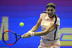February 3, 2018 - St. Petersburg, Russia - February 3, 2018 - St. Petersburg, Russia - Russia, St. Petersburg, international female tennis tournament of WTA St.Petersburg Ladies Trophy 2018 - Petra Kvitova-Julia Gerges. (Credit Image: © Russian Look via ZUMA Wire)
