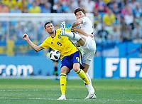Marcus Berg (Sweden) and Jang Hyunsoo (Korea Republic)<br /> Nizhny Novgorod 16-06-2018 Football FIFA World Cup Russia  2018 <br /> Sweden - South Korea / Svezia - Corea del Sud <br /> Foto Matteo Ciambelli/Insidefoto