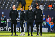 England Players the to the pitch ahead of the UEFA Nations League semi-final match between Netherlands and England at Estadio D. Afonso Henriques, Guimaraes, Portugal on 6 June 2019.