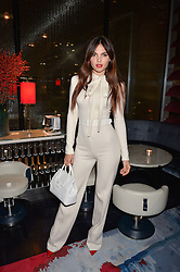 LONDON, ENGLAND 8 DECEMBER 2016: Doina Ciobanu at the Omega Constellation Globemaster Dinner at Marcus, The Berkeley Hotel, Wilton Place, London England. 8 December 2016.