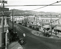 1923 Looking north up Western Ave. from Santa Monica Blvd.