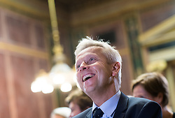 17.10.2016, Parlament, Wien, AUT, Grüne, Festveranstaltung anlässlich 30 Jahre Grüne im Parlament. im Bild ÖVP Klubobmann Reinhold Lopatka // Leader of the Parliamentary Group OeVP Reinhold Lopatka during ceremony due to 30 years of the green party in the austrian parliament in Vienna, Austria on 2016/10/17. EXPA Pictures © 2016, PhotoCredit: EXPA/ Michael Gruber