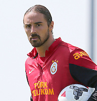 Galatasaray football team players continued to do on training in Birmingham, England on July 16, 2013.<br /> Pictured: Goalkeeper Aykut Ercetin