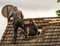 Small building firms return to work, Penicuik, 18 May 2020