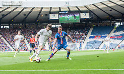 Falkirk's Kieran Duffie with Inverness Caledonian Thistle's Marley Watkins. Falkirk 1 v 2 Inverness CT, Scottish Cup final at Hampden.