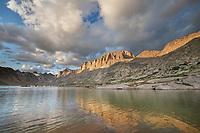 Evening light over Titcomb Basin, Bridger Wilderness, Wind River Range Wyoming