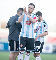 Hearts Danny Wilson at the end.<br /> Falkirk 0 v 3 Hearts, Scottish Championship game played 21/3/2015 at The Falkirk Stadium.