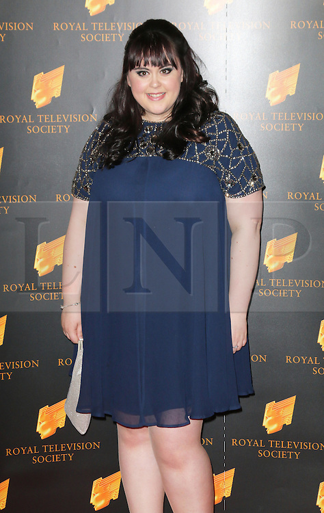 © Licensed to London News Pictures. 18/03/2014, UK. Sharon Rooney, The Royal Television Society Programme Awards, Grosvenor House Hotel, London UK, 18 March 2014. Photo credit : Richard Goldschmidt/Piqtured/LNP