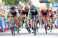 Arrival Sprint, Peter Sagan (SVK - Bora - Hansgrohe), Alejandro Valverde (ESP - Movistar) green jersey, during the UCI World Tour, Tour of Spain (Vuelta) 2018, Stage 8, Linares - Almaden 195,1 km in Spain, on September 1st, 2018 - Photo Luis Angel Gomez / BettiniPhoto / ProSportsImages / DPPI