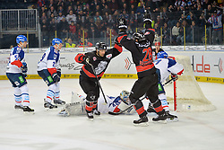 06.01.2015, Arena Nürnberger Versicherung, Nürnberg, GER, DEL, Thomas Sabo Ice Tigers vs Adler Mannheim, 36. Runde, im Bild Jason Jaspers (Nuernberg Ice Tigers / links) bejubelt sein Tor zum 1:0 mit Steven Reinprecht (Nuernberg Ice Tigers / rechts). // during Germans DEL Icehockey League 36th round match between Thomas Sabo Ice Tigers and Adler Mannheim at the Arena Nürnberger Versicherung in Nürnberg, Germany on 2015/01/06. EXPA Pictures © 2015, PhotoCredit: EXPA/ Eibner-Pressefoto/ Merz<br /> <br /> *****ATTENTION - OUT of GER*****