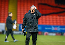 Partick Thistle's manager Ian McColl at the end. Dundee United 1 v 1 Partick Thistle, Scottish Championship game played 7/3/2020 at Dundee United's stadium Tannadice Park.