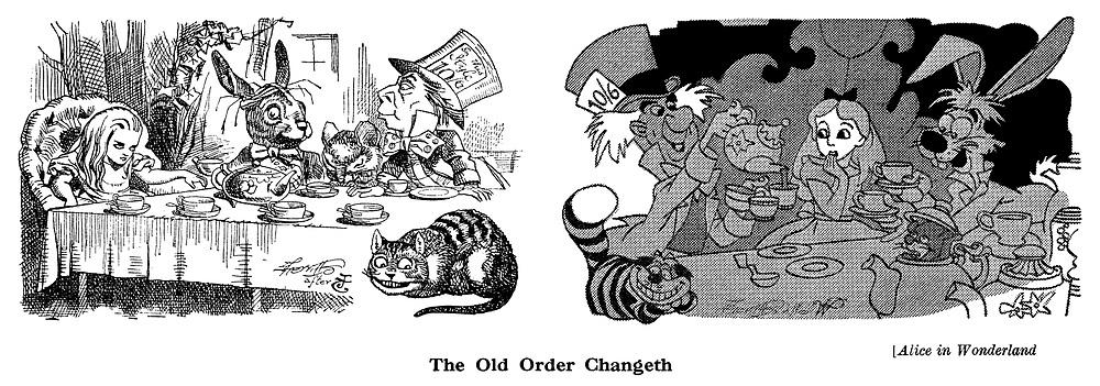 Alice in Wonderland : Sherriffs after Tenniel and Disney