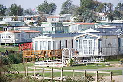 Mobile homes on site at Tunstall; East Yorkshire; England