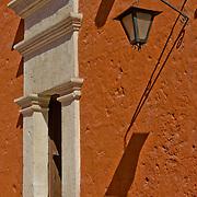 """Monastario Santa Catalina in the """"White City"""" of Arequipa, Peru."""