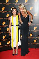 Anita Rani; Celia Sawyer, The Royal Television Society Programme Awards, Grosvenor House Hotel, London UK, 18 March 2014, Photo by Richard Goldschmidt