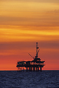 Offshore Oil Rig in Huntington Beach