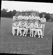 Cork County Cricket Team, which met Trinity College at College Park, 25th, May, 1961