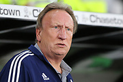 Cardiff City manager Neil Warnock during the EFL Sky Bet Championship match between Derby County and Cardiff City at the Pride Park, Derby, England on 13 September 2019.