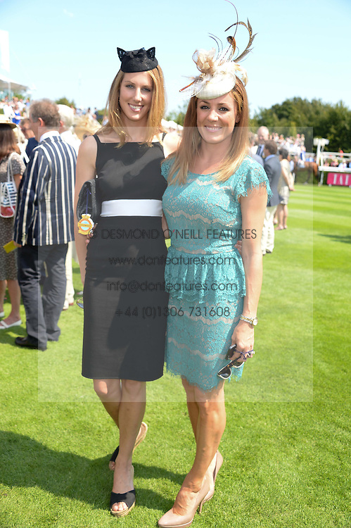 Left to right, SUSANNA WARREN and NATALIE PINKHAM at the 3rd day of the 2013 Glorious Goodwood racing festival - Ladies day at Goodwood Racecourse, West Sussex on 1st August 2013.