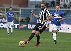 November 19, 2017 - Genoa, Italy - Gonzalo Higuain during Serie A match between Sampdoria v Juventus, in Genova, on November 19, 2017  (Credit Image: © Loris Roselli/NurPhoto via ZUMA Press)
