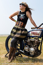 Brittney Olsen at Sugar Bear's museum during the 78th annual Sturgis Motorcycle Rally. Sturgis, SD. USA. Thursday August 9, 2018. Photography ©2018 Michael Lichter.
