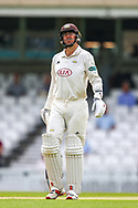 Rikki Clarke of Surrey during the Specsavers County Champ Div 1 match between Surrey County Cricket Club and Kent County Cricket Club at the Kia Oval, Kennington, United Kingdom on 10 July 2019.
