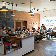 Tucson, AZ -- 09/29/2017<br /> <br /> 5 Points Market & Restaurant sits at the main junction at Five Points, which brings five Tucson neighborhoods together. The popular breakfast, coffee shop and small market offers fresh baked goods and menu items ranging from hearty to healthy.<br /> <br /> <br /> Photography by Jill Richards