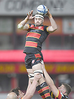 Rugby Union - 2020 / 2021 European Rugby Heineken Champions Cup - Round of 16 - Gloucester vs La Rochelle - Kingsholm<br /> <br /> Gloucester's Lewis Ludlow claims the lineout.<br /> <br /> COLORSPORT/ASHLEY WESTERN