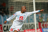 Fotball<br /> Frankrike<br /> Foto: Dppi/Digitalsport<br /> NORWAY ONLY<br /> <br /> FOOTBALL - FRENCH CUP 2006/2007 - 1/4 FINAL - OLYMPQIUE MARSEILLE v VANNES - 27/02/2007 - JOY TOIFILOU MAOULIDA (OM) AFTER GOAL