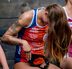 Puk Stubbe in action during the second day of the beach volleyball event King of the Court at Jaarbeursplein on September 10, 2020 in Utrecht.