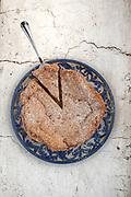 Torta di mandorle photographed for Mandranova for their cookbook