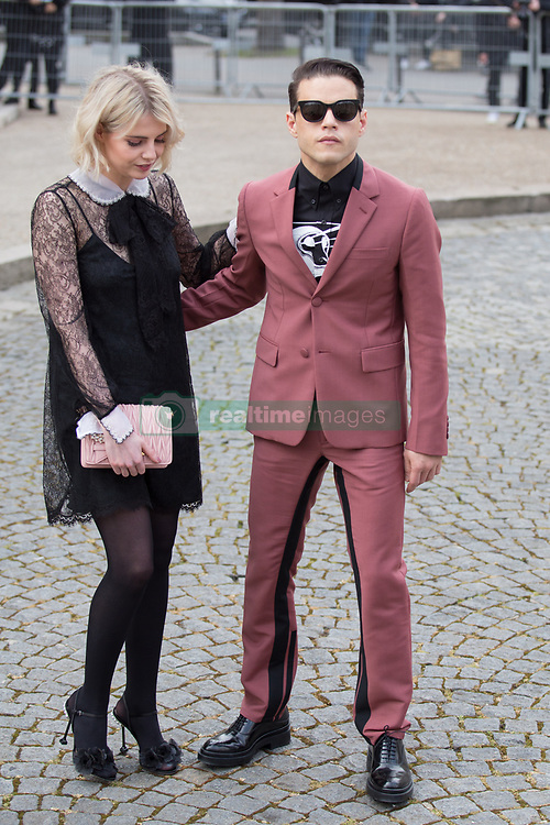 Rami Malek and Lucy Boynton arriving at Miu Miu fashion show Paris during the Paris fashion week in Paris, France on March 06, 2017. Photo by Nasser Berzane/ABACAPRESS.COM