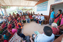17 September 2018, Kavre district, Nepal: Lutheran World Federation general secretary visits the community of Maidan. The villagers have started to practice semi-commercial vegetable farming, through support from the LWF World Service programme's Post-Earthquake Rehabilitation and Livelihood Recovery Project. Through a collection centre, villagers gather what surplus they have, and bring it collectively to the market in the nearby town of Kuntabesi.