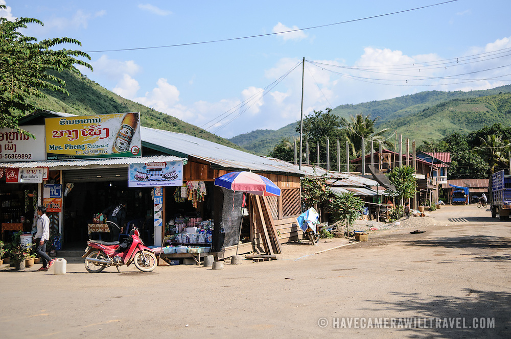 A small town on a crossroads in nothern Laos.