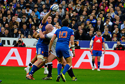 March 10, 2018 - Saint Denis, Seine Saint Denis, France - The number height of French Team MARCO TAULEIGNE in action during the NatWest Six Nations Rugby tournament between France and England at the Stade de France - St Denis - France..France won 22-16 (Credit Image: © Pierre Stevenin via ZUMA Wire)