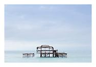 Brighton's dilapidated yet hauntingly beautiful West Pier, Sussex. <br /> West Pier Print for Sale by Christopher Ison ©<br /> 07544044177<br /> chris@christopherison.com<br /> www.christopherison.com