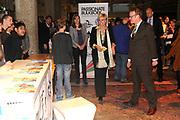Prinses Laurentien opent Dag van de Literatuur in de Doelen, Den Haag. De Dag van de Literatuur, een eendaags literatuurfestival voor jongeren. Op het festival komen jongeren van de bovenbouw van het voortgezet onderwijs samen om kennis te maken met Nederlandstalige literatuur. <br /> <br /> Princess Laurentien opens Day of Literature in the Doelen, The Hague. The Day of Literature, a one-day literature festival for young people. At the festival, young people of the upper secondary education together to learn about Dutch literature.<br /> <br /> Op de foto / On the photo:  Prinses Laurentien / Princes Laurentien