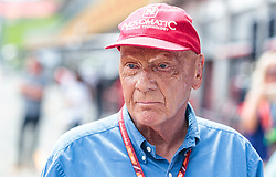 21.05.2019, AUT, ARCHIV, Niki Lauda am 20. Mai im Alter von 70 Jahren verstorben, im Bild Niki Lauda (AUT) Mercedes AMG Petronas F1 Team, 08.07.2017, Red Bull Ring, Spielberg // ARCHIVE, Niki Lauda passed away on 20 May at the age of 70. Mercedes AMG F1 Non- Executive Chairman Niki Lauda (AUT) during Qualifying for the Austrian FIA Formula One Grand Prix at the Red Bull Ring in Spielberg, Austria on 2017/07/08. EXPA Pictures © 2019, PhotoCredit: EXPA/ JFK