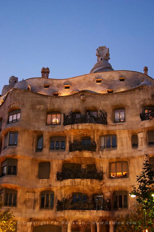 La Pedrera by Gaudi. Barcelona, Catalonia, Spain.