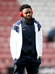 Tottenham Hotspur's Danny Rose inspects the pitch prior to the Premier League match at St Mary's Stadium, Southampton.